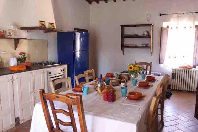 Ferienwohnung auf einem Borgo bei Buonconvento bis 8 Personen