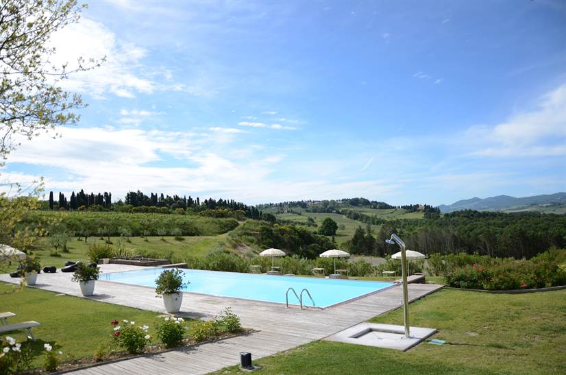 Pool Ansicht in La Macchia