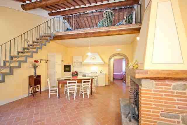Maisonette Appartement I für 4+2 Personen bei Cortona mit Pool